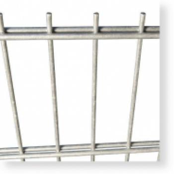 Doppelstabmatten Zaunelemente, Metallzaun 6/5/6, H x B 1.230 x 2.500 mm