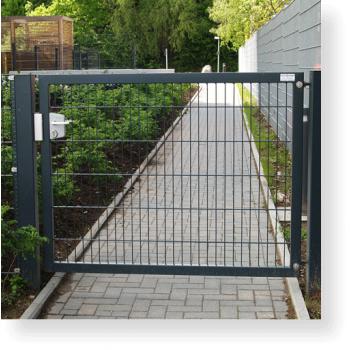 Drehtor, Gartentor, Pforte einflügelig, 1.500 x 1800 mm (BxH)