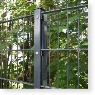 Zaunpfosten 60/40 mm für Doppelstabmatten mit Abdeckleiste, RAL 7016 anthrazitgrau