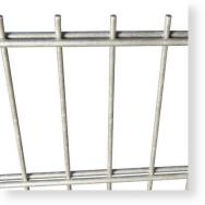 Doppelstabmatten Zaunelemente, Metallzaun 8/6/8, H x B 1.430 x 2.500 mm
