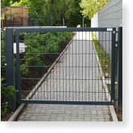 Drehtor, Gartentor, Pforte einflügelig, 1.500 x 1.600 mm (BxH)