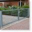 Drehtor, Gartentor, Pforte zweiflügelig, 6.000 x 1.000 mm (BxH)